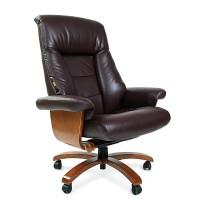 Кресло руководителя Chairman 400 кожа коричневое