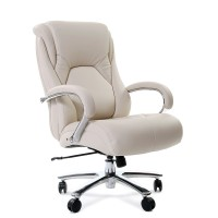 Кресло руководителя Chairman 402 кожаное белое