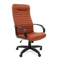 Кресло руководителя Chairman 480 LT Экокожа Terra 111 коричневая