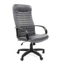 Кресло руководителя Chairman 480 LT Экокожа Terra 117 серая