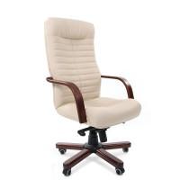 Кресло руководителя Chairman 480 WD Экокожа премиум бежевая