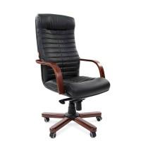 Кресло руководителя Chairman 480 WD Экокожа премиум черная