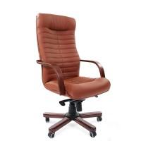 Кресло руководителя Chairman 480 WD Экокожа премиум коричневая