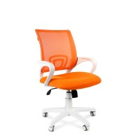 Кресло оператора Chairman 696 white белый пластик / оранжевый