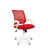 Кресло оператора Chairman 696 white белый пластик / красный