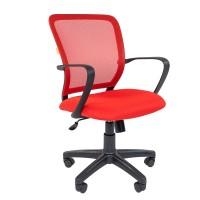 Кресло оператора Chairman 698 black красный