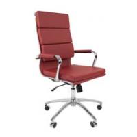 Кресло руководителя Chairman 750 экокожа бордовая