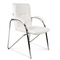Кресло посетителя Chairman 850 Экокожа белый