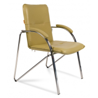 Кресло посетителя Chairman 850 Экокожа фисташковый