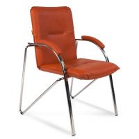 Кресло посетителя Chairman 850 Экокожа оранжевый