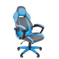 Кресло руководителя Chairman GAME 20 серый/голубой