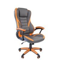 Кресло руководителя Chairman GAME 22 серый/оранжевый