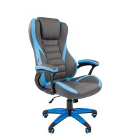 Кресло руководителя Chairman GAME 22 серый/голубой