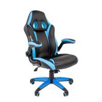 Кресло руководителя Chairman GAME 15  черный/голубой