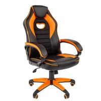 Кресло руководителя Chairman GAME 16 черный/оранжевый