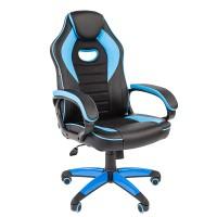 Кресло руководителя Chairman GAME 16 черный/голубой