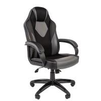 Кресло руководителя Chairman GAME 17 черный/серый