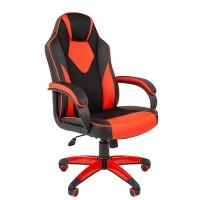 Кресло руководителя Chairman GAME 17 черный/красный
