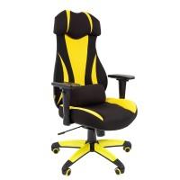 Кресло руководителя Chairman GAME 14 черный/желтый