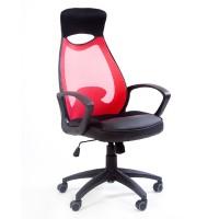 Кресло руководителя Chairman 840 Black красное