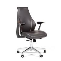 Кресло руководителя Chairman JAZZZ M кожа темно-серая