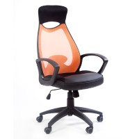 Кресло руководителя Chairman 840 Black оранжевое