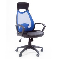 Кресло руководителя Chairman 840 Black синее