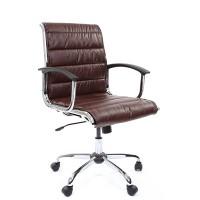 Кресло руководителя Chairman 760M Экокожа премиум коричневая