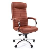 Кресло руководителя Chairman 480 Экокожа премиум коричневая