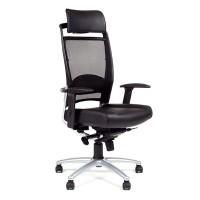 Кресло руководителя Chairman Ergo 281A (А) хром ручки кожа