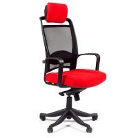 Кресло руководителя Chairman 283 Ткань 26-22 красное , черное