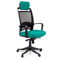 Кресло руководителя Chairman 283 Ткань 26-26 зеленое