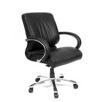 Кресло руководителя Chairman 444 кожа черная