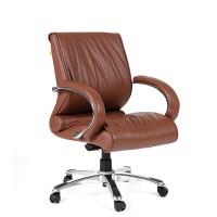 Кресло руководителя Chairman 444 кожа коричневая