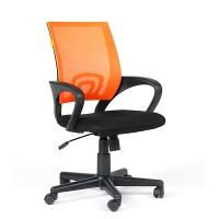 Кресло оператора Chairman 696 black  акрил DW66 оранжевый