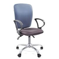 Кресло оператора Chairman 9801 сид15-13 серый/сп 15-41 голубой