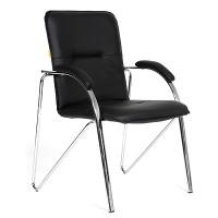 Кресло посетителя Chairman 850 Экокожа Terra 118 черная