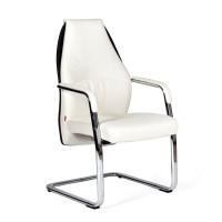 Кресло посетителя Chairman Basic V Экокожа белая/черная