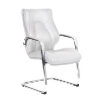 Кресло посетителя Chairman FugaV Экокожа премиум белая