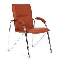 Кресло посетителя Chairman 850 Экокожа Terra 113 бордо