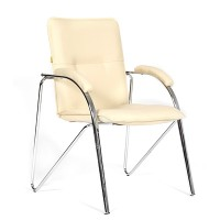 Кресло посетителя Chairman 850 Экокожа Terra 101 бежевый