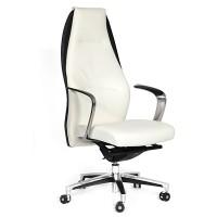 Кресло руководителя Chairman BASIC кожа белая/черная