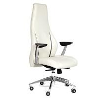 Кресло руководителя Chairman JAZZZ кожа белая