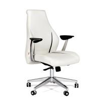 Кресло руководителя Chairman JAZZZ M кожа белая