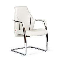 Кресло посетителя Chairman JazzzV Экокожа премиум комбинированная белая/черная