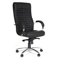 Кресло руководителя Chairman 480 кожа натуральная черная