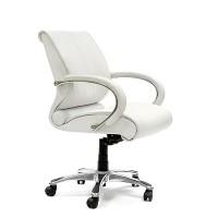 Кресло руководителя Chairman 444 кожа белая